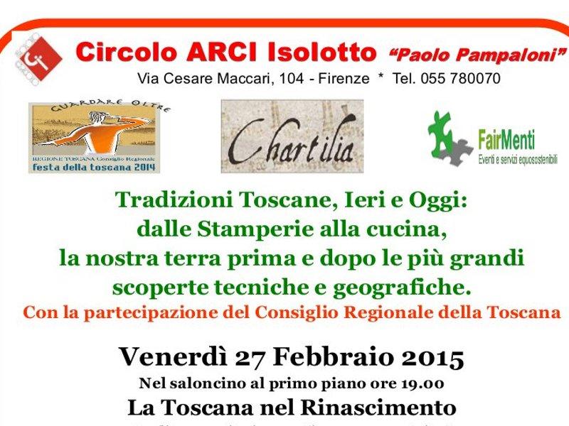 Toscana rinascimentale: carta e cucina