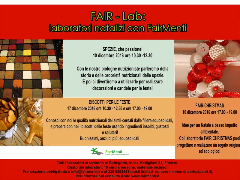 Fair-Lab: laboratori natalizi